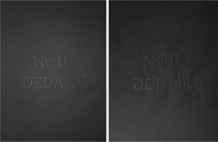 Noir Dedans Noir Dehors 2018:Diptyque de 150cmx100cm-coton-fil à broder-