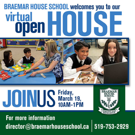 Virtual Open House - March 19, 2021