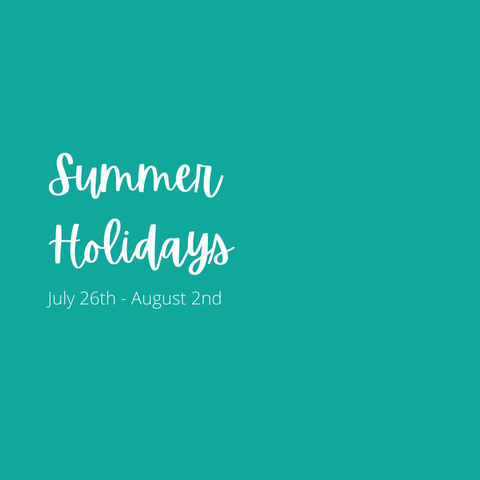 Administrative Office Closed July 26 - August 2