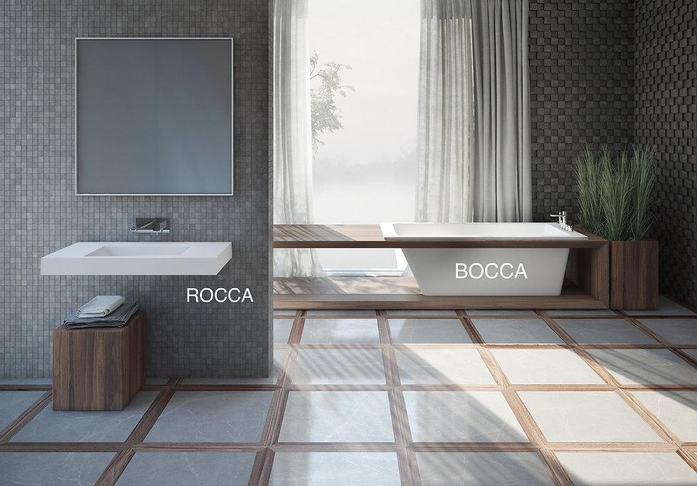 Freistehende Badewanne Boca aus Mineralguss