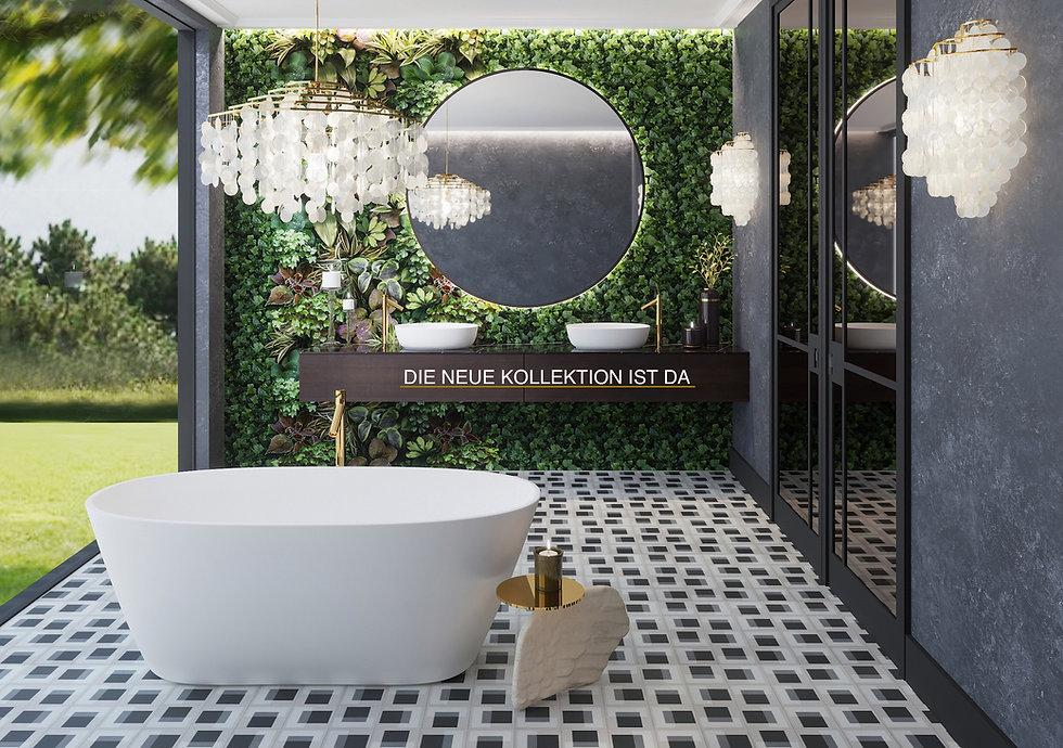 Borghese Badewanne aus Mineralguss