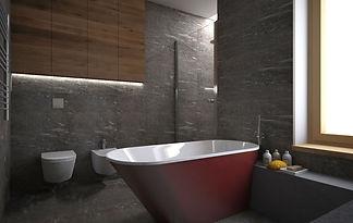 Bartolini freistehende Badewanne in Design Badezimmer