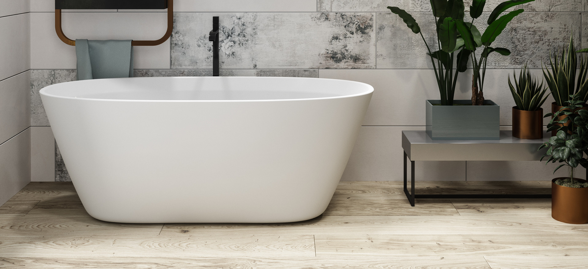 Borghese freestanding bathtub