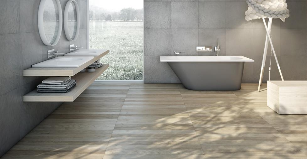 Badewanne und Waschbecken aus Mineralgus