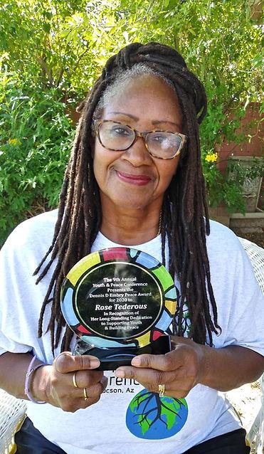 Rose Tederous Photo with Peace Award.jpg