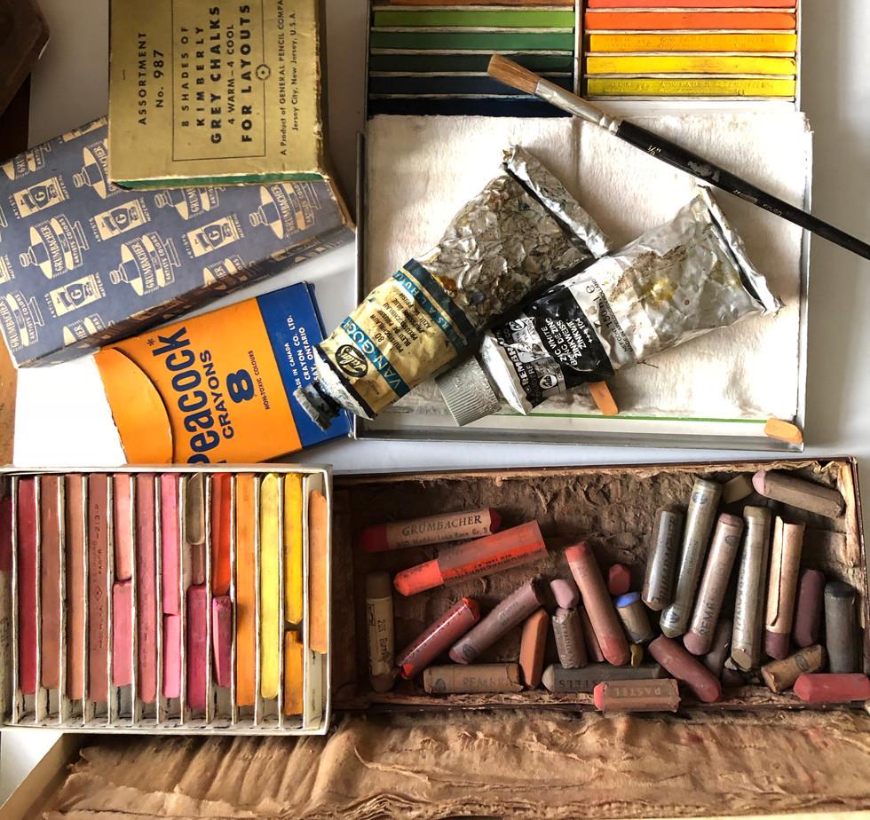vintage pastels