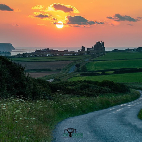 A summer's sunset in Whitby