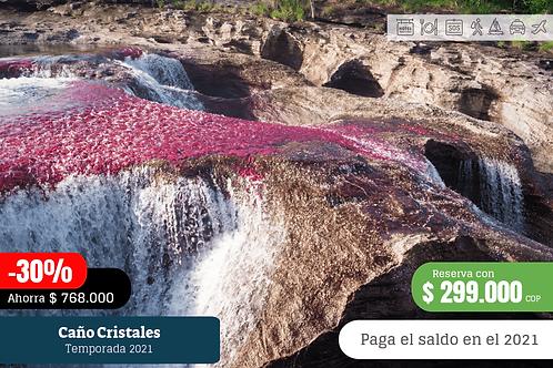 Caño Cristales 4 días 3 noches con tiquetes desde Bogotá
