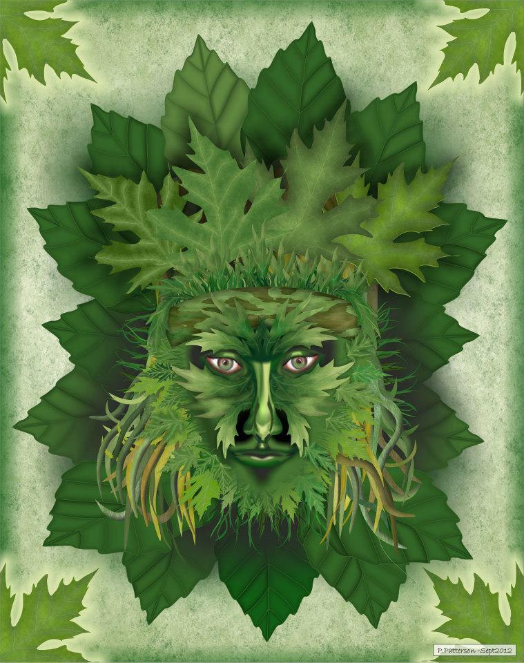 Green Man image (c) Peter Patterson