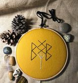 Create Your Own Embroidered Bindrune Charm by Sue James-Bristow