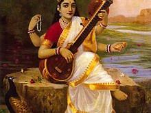 Saraswati Hindu Goddess by StormloverWolf