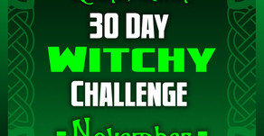 30 day Witchy Challenge - November