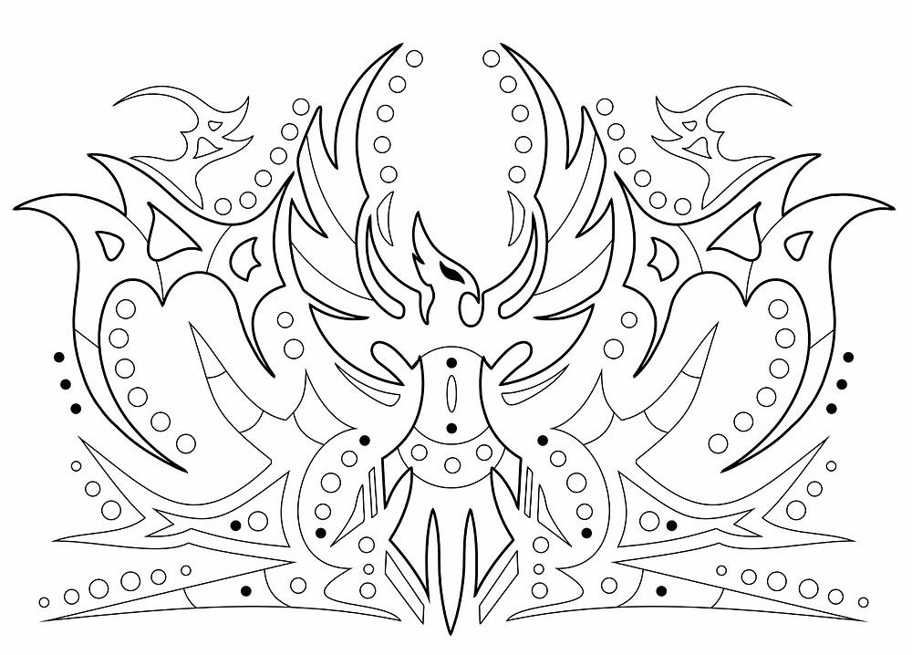 Image from Gods & Goddesses Colouring book