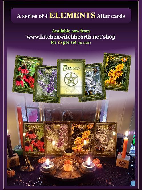 Element Altar Cards