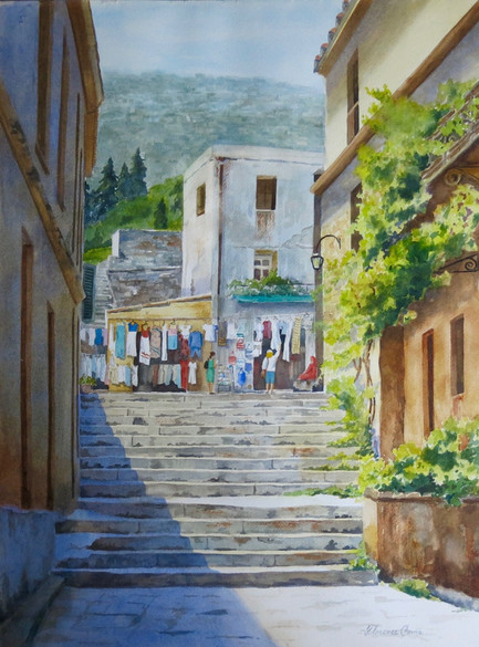Shopping at the Plaka, Greece