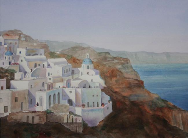 Morning in Santorini