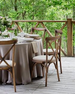Šventinis stalas terasoje