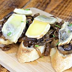 Mushroom and Brie Toasts