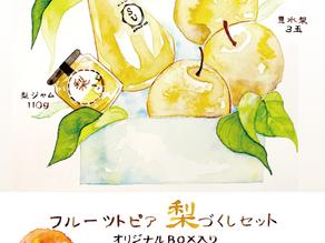 矢掛町の特産品「梨」を使用したセットの販売