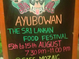 Ayubowan-Sri Lankan Food Festival @ Café Mozaic, Vivanta by Taj, MG Road.