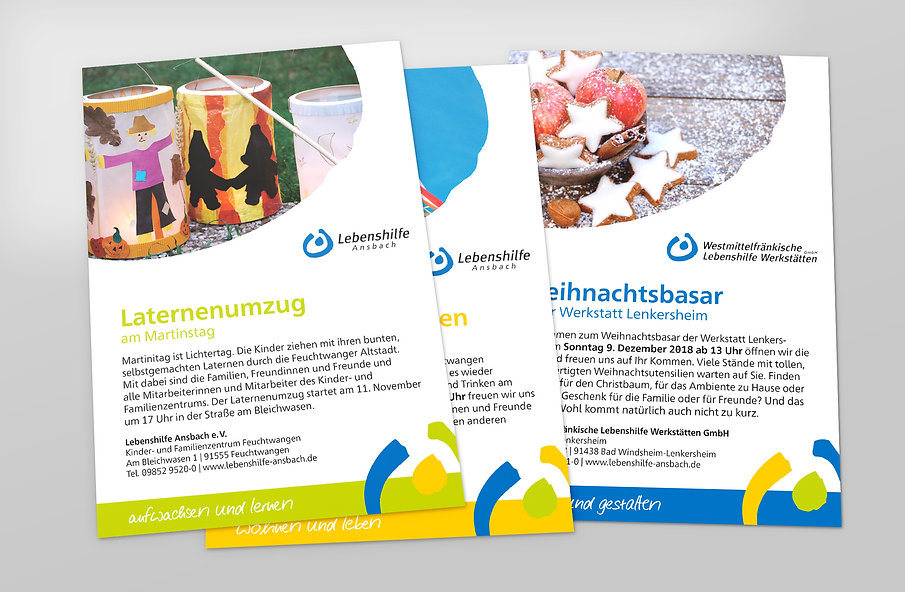 Lebenshilfe Ansbach Corporate Design · Werbeagentur