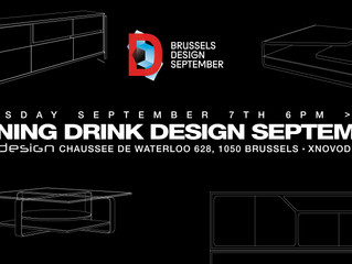 BRUSSELS DESIGN SEPTEMBER OPENING DRINK
