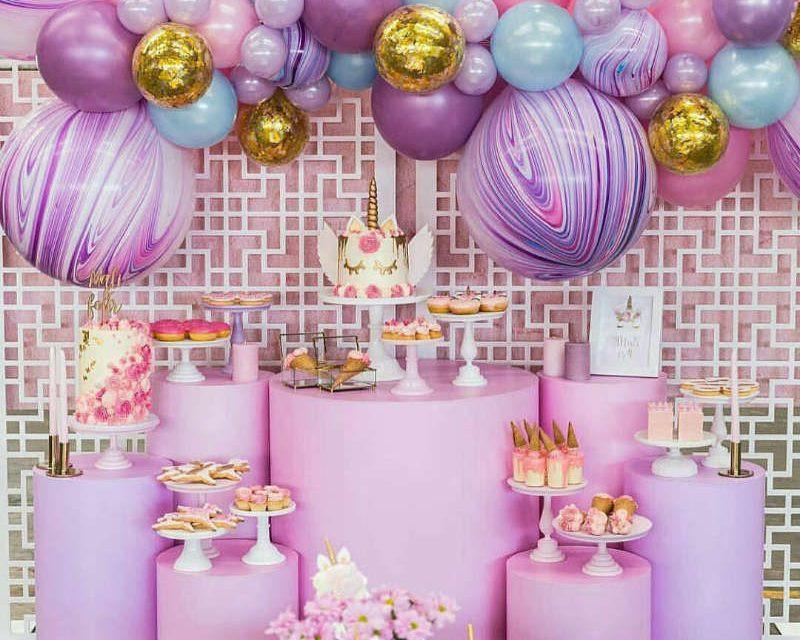 Balloon installation unicorn theme