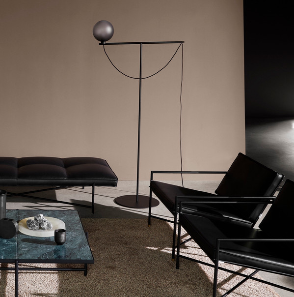 Handvärk Globe Floor Lamp, Daybed, Lounge Chairs and Coffee Tables