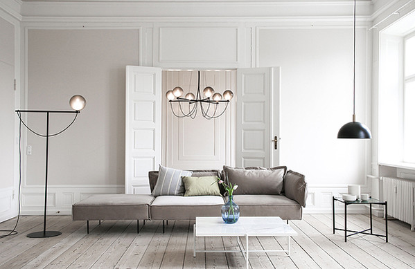 Handvärk Globe Floor Lamp, Globe Pendant, Studio Pendant, Modular Sofa, Coffee Table and Side Table