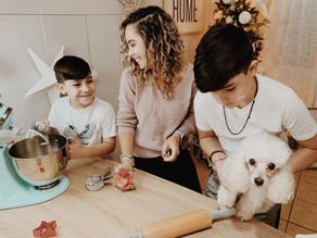 Horneando galletas para nuestra Navidad