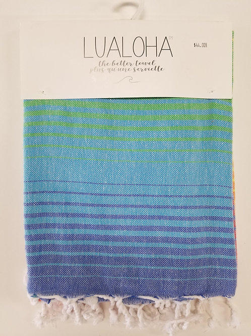 Lualoha Towel Rainbow