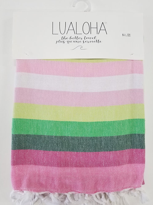 Lualoha Towel Multi-Stripe