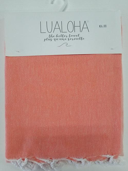 Lualoha Towel Coral