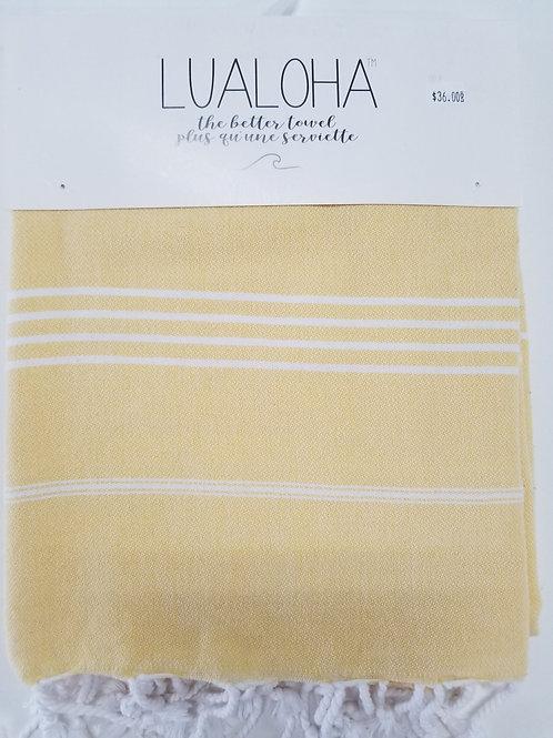 Lualoha Towel Yellow