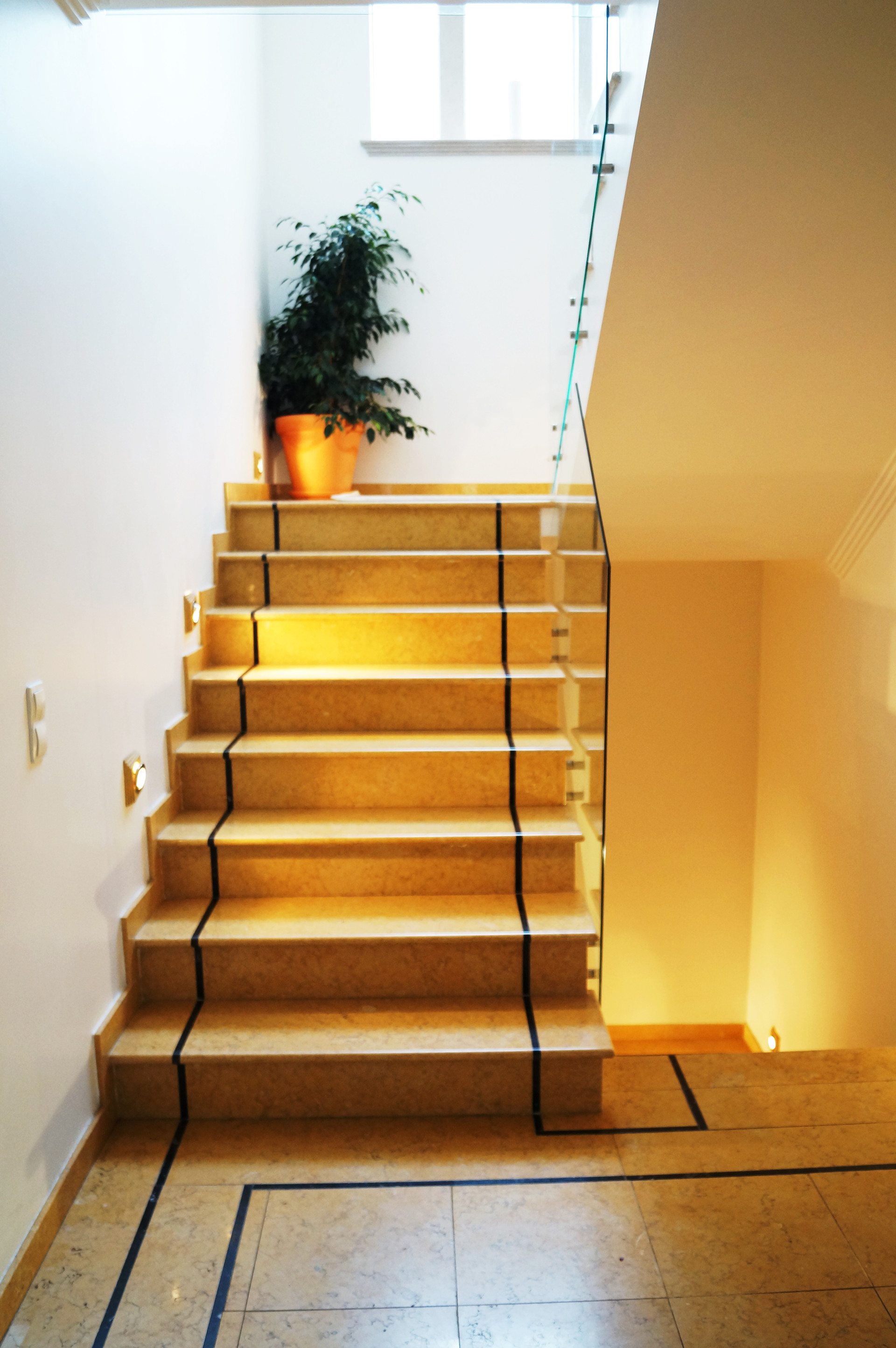 Stairs to the Ensuites