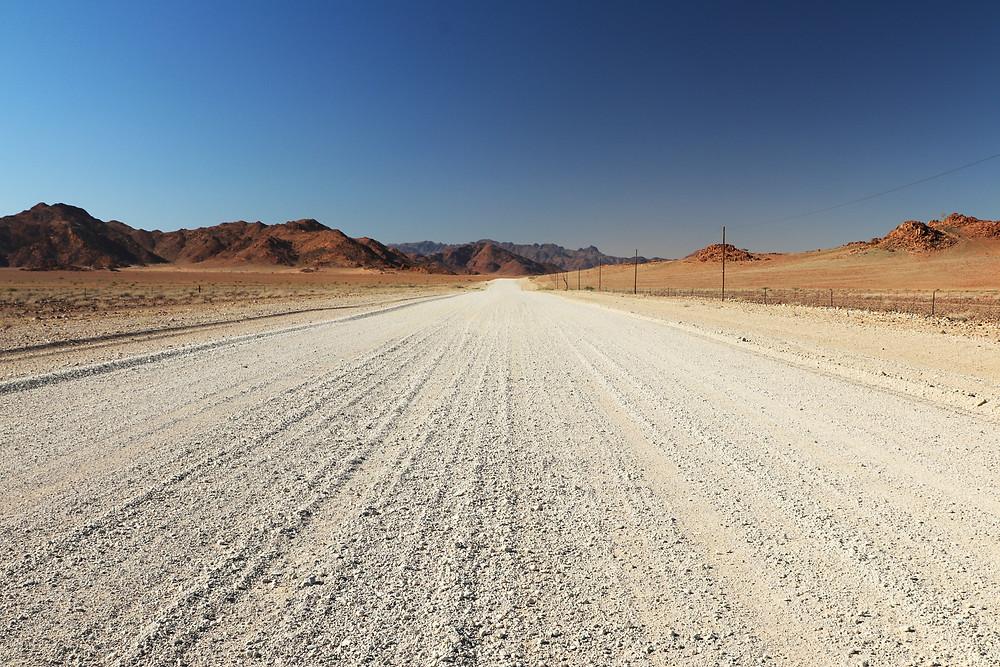 Gravelroad in Namibia