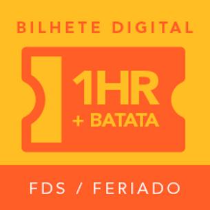 Bilhete Digital - 1 Hora (fds e feriados)