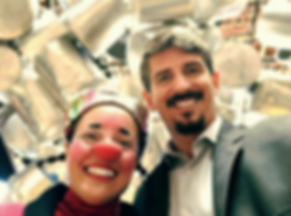 A palhaça Consuelo e o psicanalista Francisco Nogueira do Relações Simplificadas