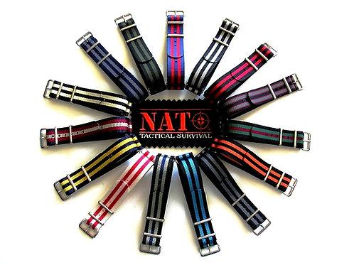 NATO G10® NEW Striped Ballistic Nylon Watchband