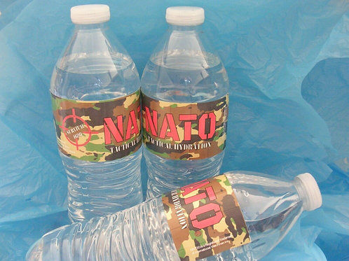 NATO® Tactical Survival Water Bottle 16.9 Oz Purified Spring Water 3 Pack