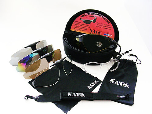 NATO Tactical Interchangeable Shooting Glasses