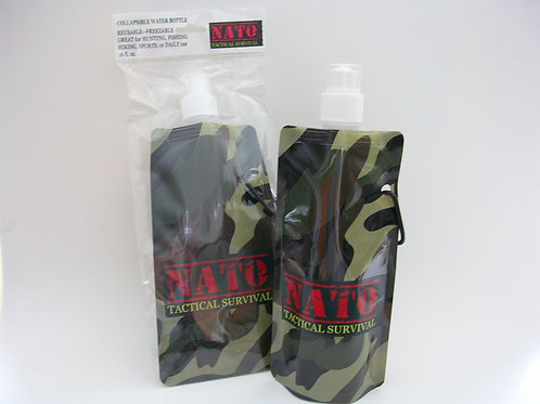 Tactical Survival Collapsible Water Bottle