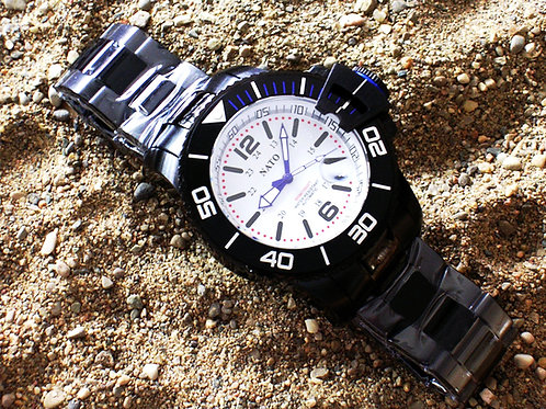 Stealth Series MIL-DIVER - White Dial Blue Accents