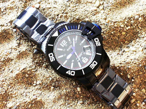 Stealth Series MIL-DIVER - Blue Accents