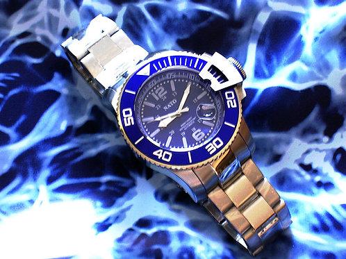NATO MIL-DIVER - Blue Silver