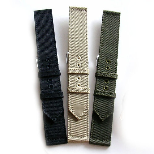 WWII 2pc Canvas Watchband