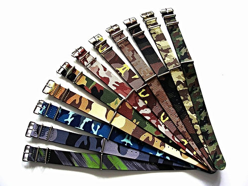 NATO G10® CAMO Ballistic Nylon Watchband 20-22mm