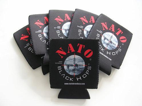 NATO® BLACK HOPS Beer Coozie 6 Pack