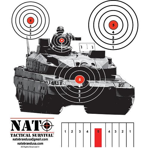NATO® Tank Gunner Paper Target 25 Pack