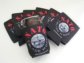 NATO Black Hops Beer Coozie